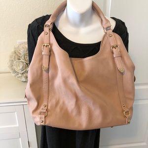 Pale pink hobo bag